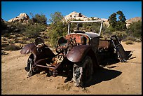 Rusting automobile near Wall Street Mill. Joshua Tree National Park ( color)