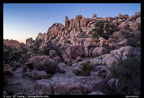Dusk, Hidden Valley. Joshua Tree National Park (color)