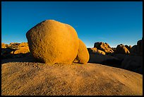 Twin boulders. Joshua Tree National Park ( color)