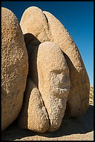 Sphynx-shaped boulder. Joshua Tree National Park ( color)