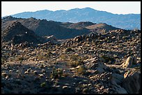 Boulders, ridges, and Eagle Mountain. Joshua Tree National Park ( color)