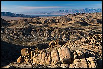 View over boulders from Mastodon Peak. Joshua Tree National Park ( color)