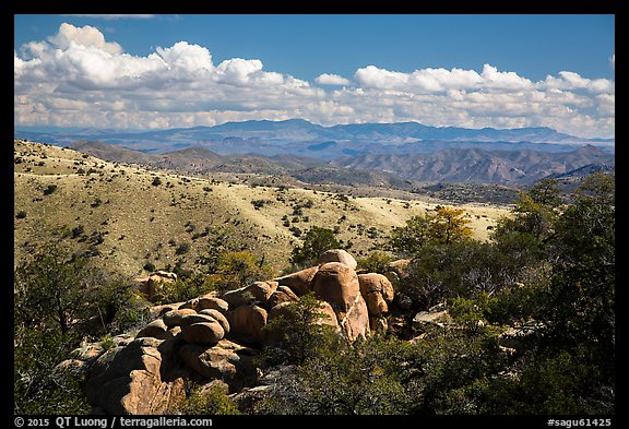 Boulders, Rincon Mountains foothills. Saguaro National Park (color)