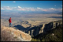 Visitor looking, Rincon Peak. Saguaro National Park ( color)