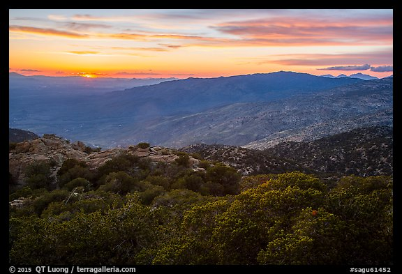 Sunset from Rincon mountains. Saguaro National Park (color)