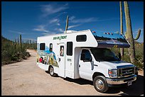 RV, Bajada Loop Drive. Saguaro National Park ( color)