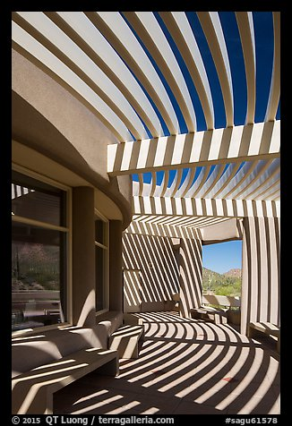 Red Hills Visitor Center and shadows. Saguaro National Park (color)