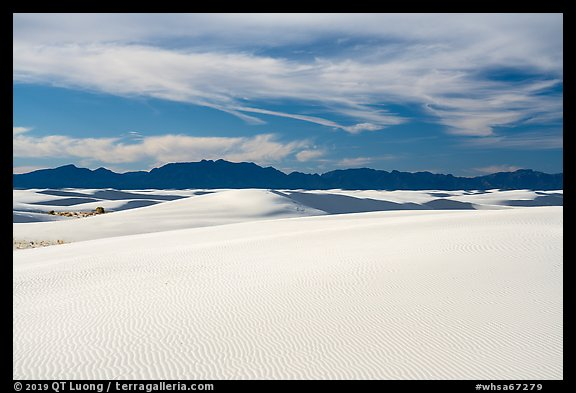 Gypsum dunes and Andres Mountains. White Sands National Park (color)