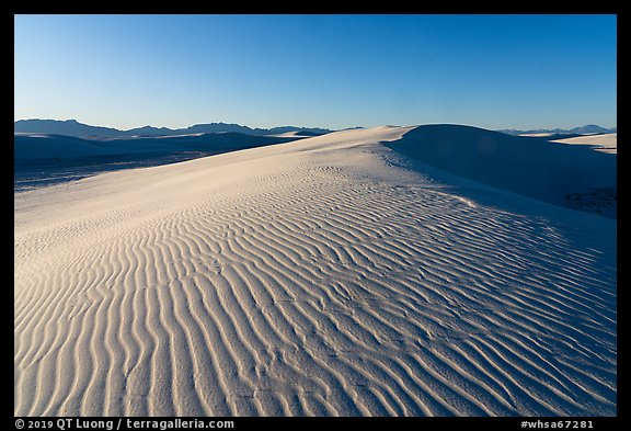 Ripples on gypsum dunes, Heart of the Sands. White Sands National Park (color)