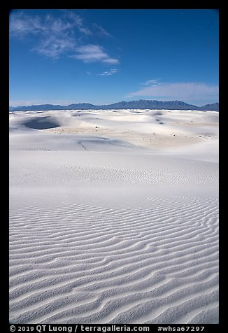View from high dune,  Heart of the Sands. White Sands National Park (color)