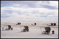 Shelters in picnic area. White Sands National Park ( color)