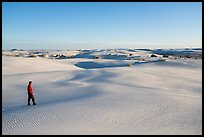 Visitor Looking, sand dunes. White Sands National Park ( color)