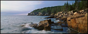 Coastal landscape, Otter Point. Acadia National Park (Panoramic color)