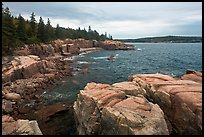 Rugged atlantic seascape near Thunder Hole. Acadia National Park ( color)