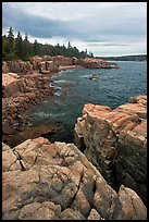 Rocky coastline near Thunder Hole. Acadia National Park ( color)