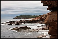 Granite seacliffs near Thunder Hole, highest on Atlantic Coast. Acadia National Park ( color)