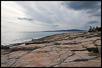 Rock slabs, Schoodic Point. Acadia National Park, Maine, USA. (color)