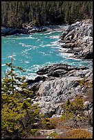 Squeaker Cove from above, Isle Au Haut. Acadia National Park, Maine, USA.
