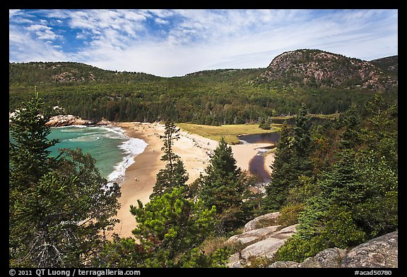 Sand Beach and Behive. Acadia National Park (color)