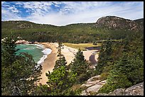 Sand Beach and Behive. Acadia National Park, Maine, USA. (color)