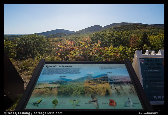Signs of the Seasons interpretive sign. Acadia National Park (color)