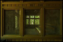 Harry Hampton Visitor Center window. Congaree National Park ( color)