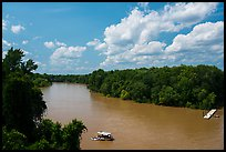 Congaree River and Bates Bridge Boast Landing. Congaree National Park ( color)