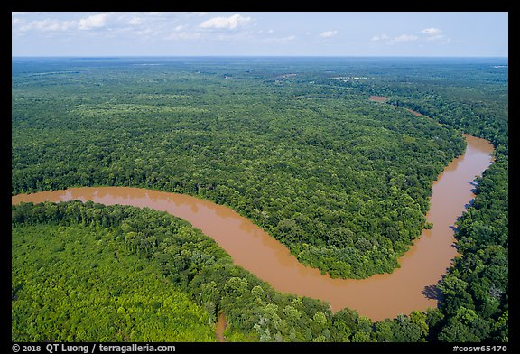 Aerial view of Congaree River bend. Congaree National Park (color)