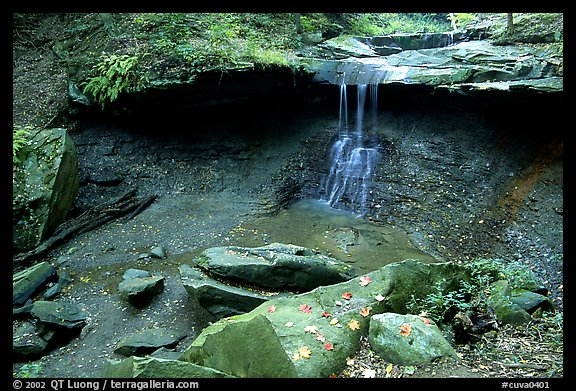 Blue Hen falls dropping over ledge. Cuyahoga Valley National Park (color)