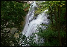 Brandywine falls in forest. Cuyahoga Valley National Park, Ohio, USA.
