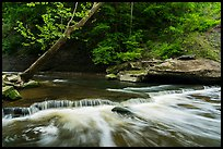 Tinkers Creek cascade, low flow, Bedford Reservation. Cuyahoga Valley National Park ( color)