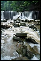 Tinkers Creek and Great Falls, high flow, Bedford Reservation. Cuyahoga Valley National Park ( color)