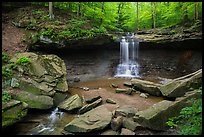Blue Hen Falls in summer. Cuyahoga Valley National Park ( color)