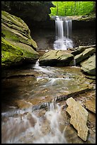 Creek flowing and Blue Hen Falls. Cuyahoga Valley National Park ( color)