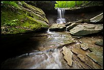 Blue Hen Falls from the bottom. Cuyahoga Valley National Park ( color)