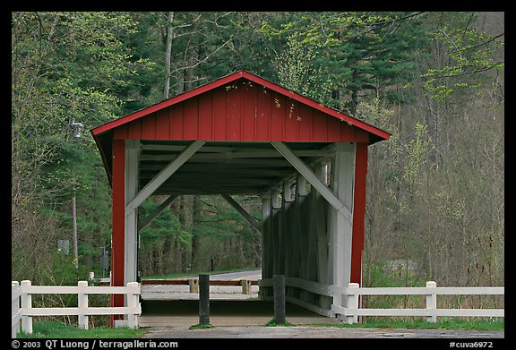 Everett Road covered bridge. Cuyahoga Valley National Park (color)
