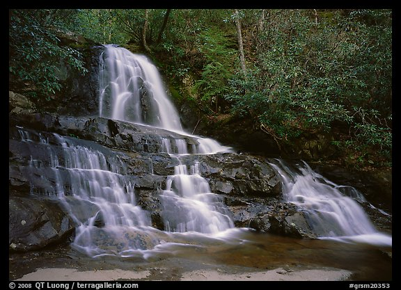 Laurel Falls, Tennessee. Great Smoky Mountains National Park (color)