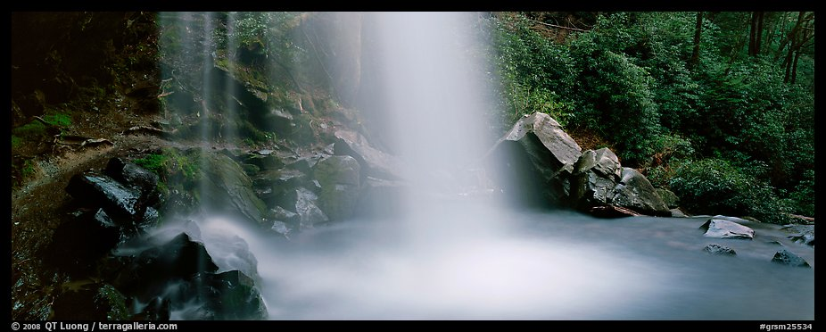 Base of waterfall and pool. Great Smoky Mountains National Park (color)