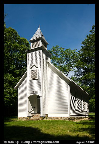 Palmer Chapel Methodist Church, Cataloochee, North Carolina. Great Smoky Mountains National Park (color)