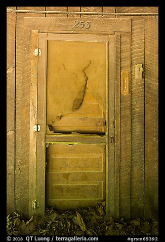 Door near Palmer House, Little Cataloochee, North Carolina. Great Smoky Mountains National Park (color)