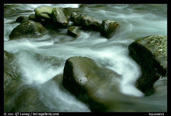 Rocks in river, Greenbrier, Tennessee. Great Smoky Mountains National Park (color)