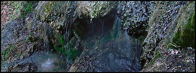Cascade over tufa spring. Hot Springs National Park (Panoramic color)