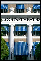 Blue shades, Buckstaff Baths. Hot Springs National Park, Arkansas, USA. (color)