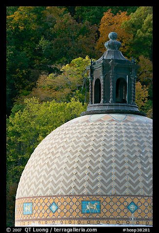 Dome of Quapaw Baths. Hot Springs National Park (color)