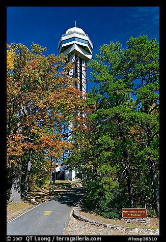 Hot Springs Mountain Tower in the fall. Hot Springs National Park (color)