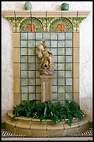 Cherub fountain in entrance hall, Fordyce Baths. Hot Springs National Park ( color)