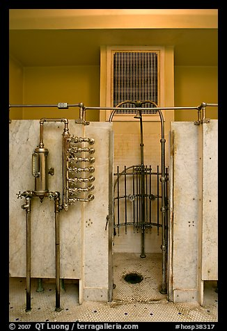 Bathing equipment, mens bath hall. Hot Springs National Park (color)
