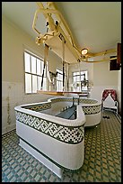Hubbard Tub room. Hot Springs National Park, Arkansas, USA. (color)
