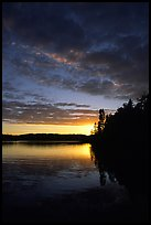 Lake Chippewa at sunset. Isle Royale National Park, Michigan, USA.