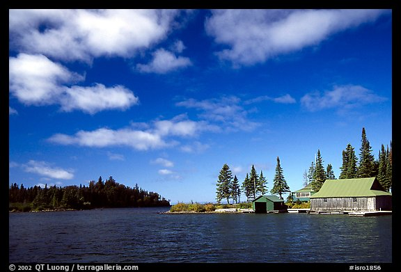 Private fishermen's residences. Isle Royale National Park (color)